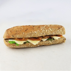 Brie and onion confit sandwich