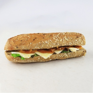 Brie and onion confit sandwich